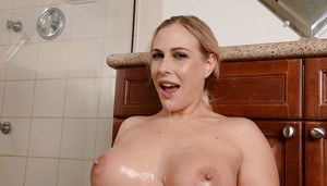 Awesome milf Angel Allwood is getting tasty load in her mouth
