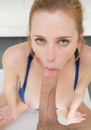 Spicy innocent blonde Taylor Whyte is sucking this wide big pole