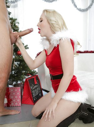Big-cock is a best gift for a cock-sucking Christmas angel Harley Q