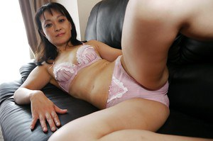 Asian milf Nagiko Miyama shows off her amazing big natural boobs
