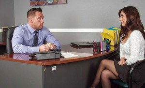 Slender office secretary Reena Sky is being fucked in her juicy ass