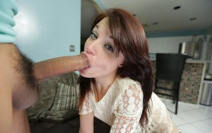 Teen Kaisey Dean is sucking this cute big cock and swallowing cum