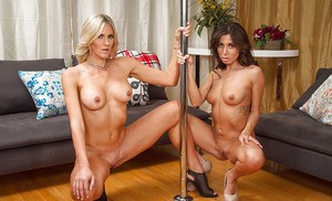 Lesbians Audrey Show & Brittany Bliss are taking off their clothes