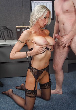 Milf Emma Starr is being banged hard in the office by this geek