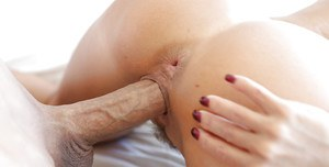 Skillful tanned babe Janet Mason is being drilled very deep!