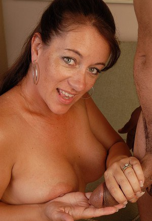 Skillful busty mature Silvia is being filled with this horny dick