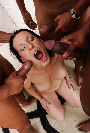 Awesome milf Maya B is being interracially screwed in her anal
