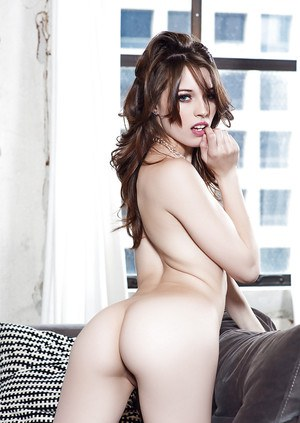 Brunette Caitlin McSwain presents her awesome big booty and pussy