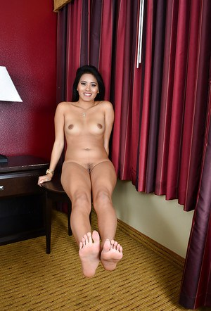 Hottest brunette Addison Avery is getting naked and masturbating