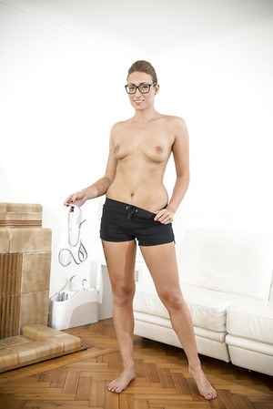Babe in glasses Ava Austen is got some nice tattoos on her body