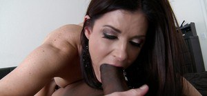 Interracial-addicted milf India Summer is getting sperm on her face