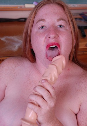 Fatty mature teacher Keno gets naked and plays with her dildo