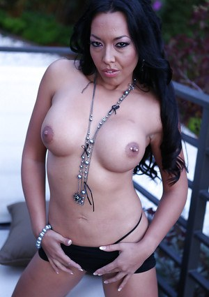 Asian mature Rio Lee is showing off her amazing big boobies!