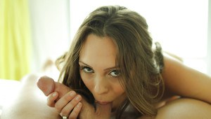 Beautiful girl Jade Nile is swallowing load of cum after blowjob