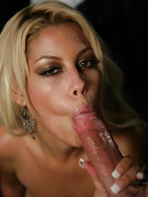 Hottest milf Bridgette B is sucking this huge loaded wiener!
