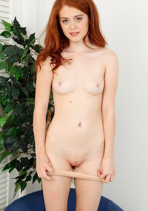 Gorgeous redhead model Alice Green demonstrates her spicy body