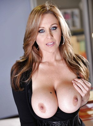 Stunning milf babe Julia Ann is touching her tight cute vagina