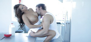 Stunning girlfriend Madison Ivy is being drilled hard in her ass