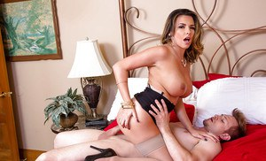 Latina milf Danica Dillon was fucked in her wide-opened mouth