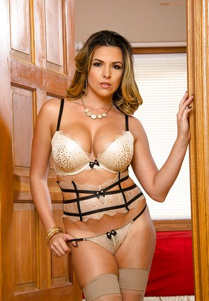 Admire Danica Dillon's elegant circular boobs and attractive honey pot