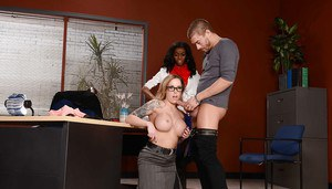 Milf Payton West seduces guy with her big tits and playful mouth