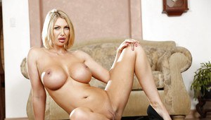 Great-looking blonde with big tits Leigh Darby has never been shy
