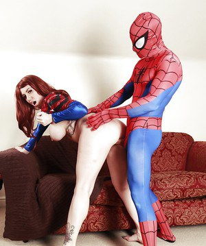 Hungry super hero gets mounted by chubby sexy milf Yuffie Yulan