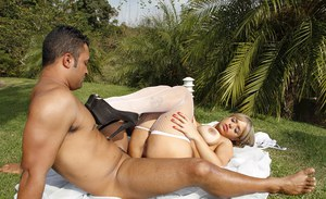 Enticing milf Angel Lima has cool outdoor ass fucking experience