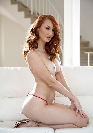 Curly ginger model Kendra James finds the perfect time for nude posing