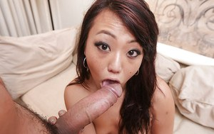 Amateur Asian young model Miko Dai goes through doggy-style fuck