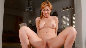 Middle-aged cock-sucker Sasha Sean is jumping happily on young cock