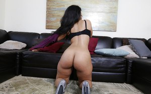 Camera captures the beauty of exotic girl Ava Sanchez's butt
