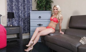 Milf and wife Laura Bentley spreads her shaved kitty and anus