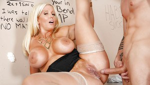 Blonde milf with big tits Alura Jenson is riding her favorite penis