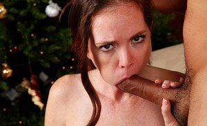 Jessica Rayne gives a Milf blowjob that leads to lots of cum in mouth
