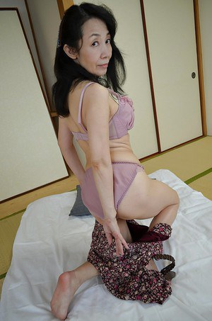 Ugly face mature Asian named Tsuyako Miyataka with a super hot body