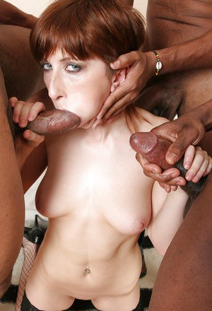 Vikki has interracial groupsex that leaves her asshole gaping open