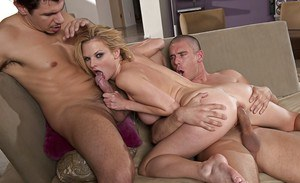 Daredevil Tarra While threesome porn including deep double penetration