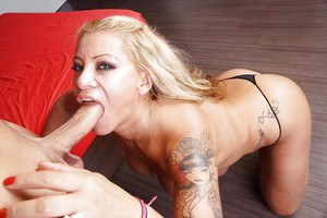 Big titted blonde Alexa Blun takes a hard ass fuck and gets jizzed on