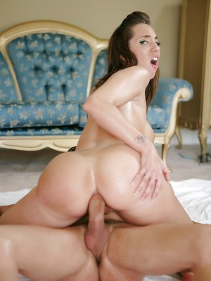Teen cutie Kelly Divine riding a cock cowgirl style with hard nipples