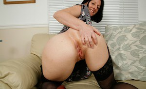 Pussy stroking is always done better by mature babes like Amber Clare