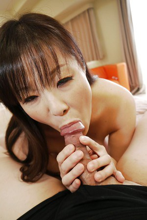 Asian close up gonzo scene of hairy pussy Masae Hamae in action
