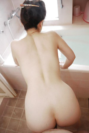 Asian ass fucking in bath with big tits Asian lady Masae Hamae