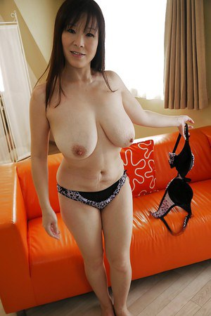 Masae Hamae and her perfect Asian big tits and pussy being exposed