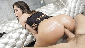 The big butt of Aleska Nicole bent over for intense anal fucking