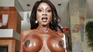 Mature mom Diamond Jackson ass fucked and tit fucked by white dick