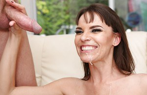 Hot spunk sprays milf Dana DeArmond after having her holes screwed