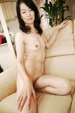 Exotic Asian MILF Yukiko Asaba spreading hairy Oriental bush