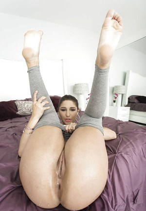 Lovely young hottie Abella Danger presents her lewd fuckable body