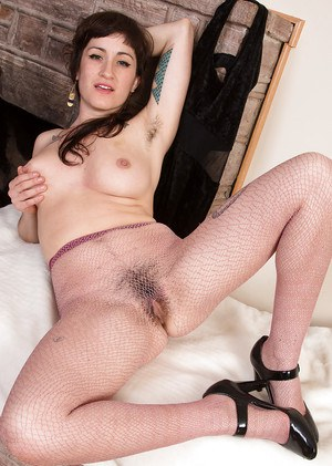 Hairy mature woman Stacey Stax is a sexy vixen that entices most men